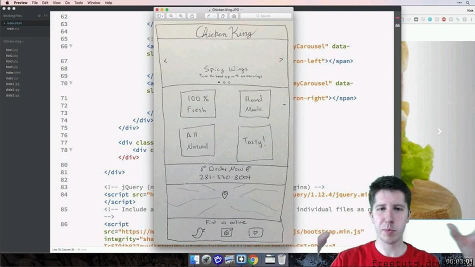 Easy HTML5 + CSS3 + Bootstrap Web Design for Beginners – Html5, CSS3 and Bootstrap Tutorial, FreeTuts Download