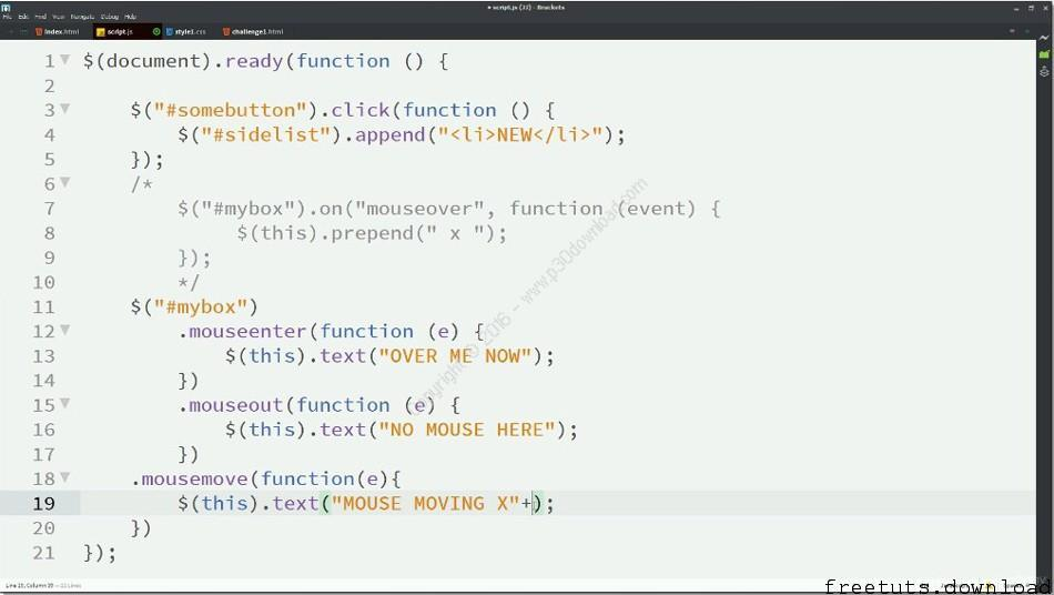 Complete jQuery Course, FreeTuts Download