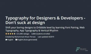 Typography for Designers & Developers – Don't suck at design, FreeTuts Download