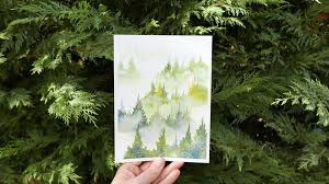 Painting trees with watercolor, FreeTuts Download