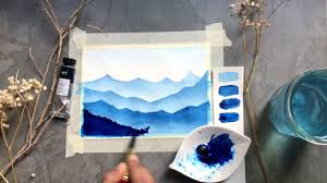 Monochrome paintings with Watercolor – Learn to paint using a single color, FreeTuts Download