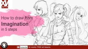 Cartoon Drawing – How To Draw From Your Imagination, FreeTuts Download
